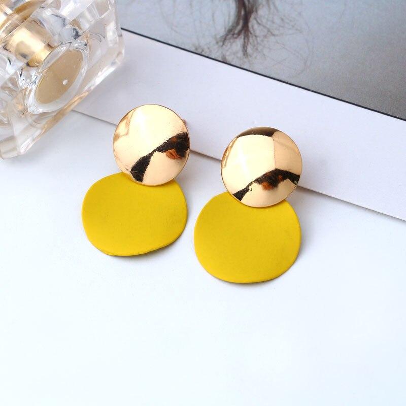 Kompetent Einfache Elegante Acryl Gelb Runde Geometrische Tropfen Ohrring Für Frauen Mode Vintage Aussage Ohrringe Brincos Schmuck 3e065