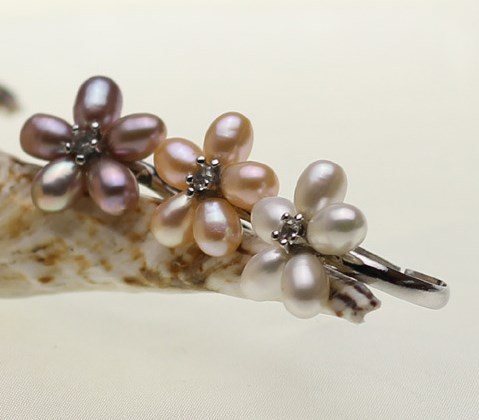 Свободный размер смешанный цвет регулируемый модный речной жемчуг кольцо ювелирное изделие в форме цветка палец кольцо хороший подарок для невесты/Свадебные украшения