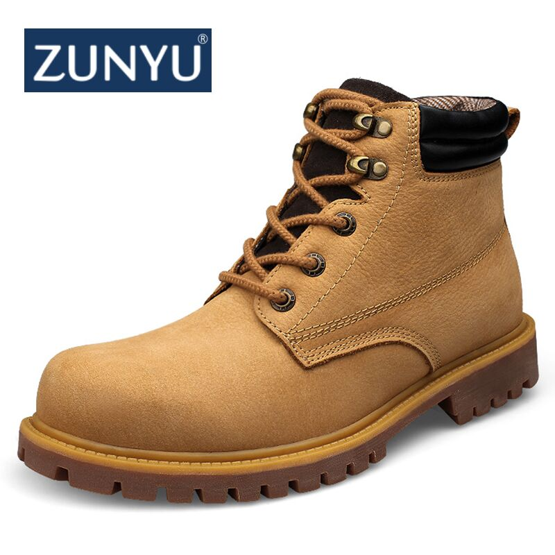 ZUNYU Genuine Leather Men Boots Autumn Winter Ankle Boots Fashion Footwear Lace Up Shoes Men High Quality Men Shoes Size 36-48 genuine leather men boots autumn winter ankle boots fashion footwear lace up shoes men high quality vintage men shoes qy5