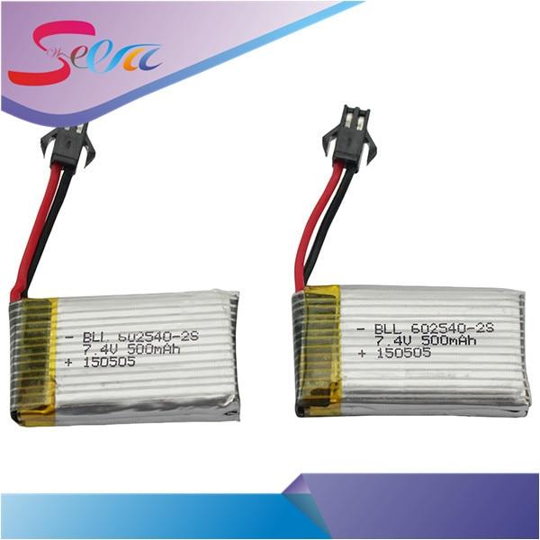 2 шт. 7.4 В 500 мАч Перезаряжаемые lipo Батарея для jjrc h8c DFD f183 Радиоуправляемый квадрокоптер Лидер продаж
