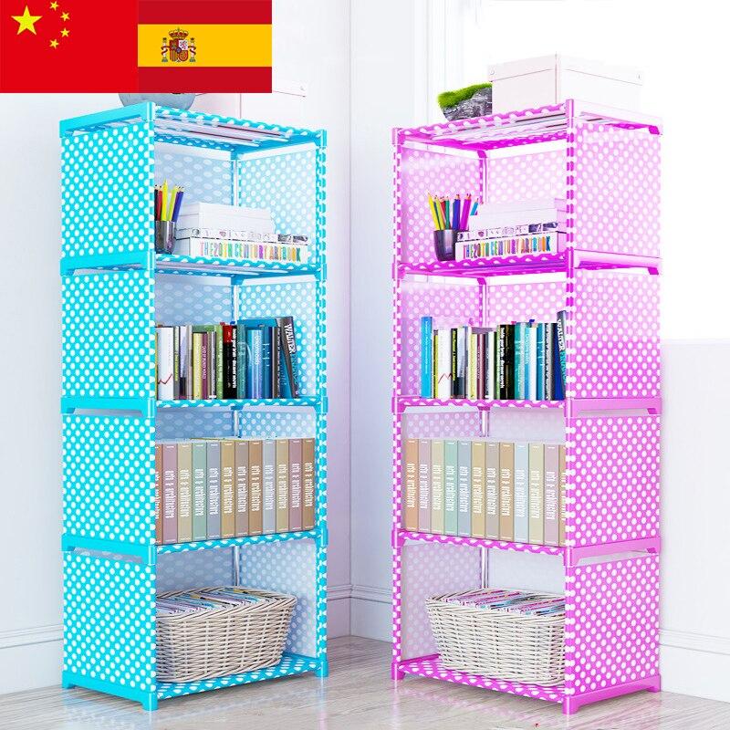 Assembly:  Multi layer Simple Bookshelf Nonwoven fabric Book organizer storage cabinet Assembly wall Children shelf bookcase Home Furniture - Martin's & Co