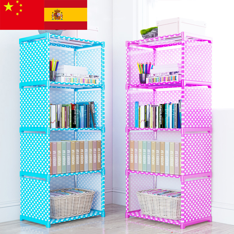 Assembly:  Multi layer Simple Bookshelf Nonwoven fabric Book organizer storage cabinet Assembly wall Children shelf bookcase Home Furniture - Martin's & Co