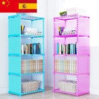 Multi layer Simple Bookshelf Nonwoven fabric Book organizer storage cabinet Assembly wall Children shelf bookcase Home Furniture
