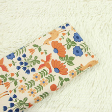 Floral Printing Cotton Plain Fabric Pure Cotton Sewing Fabric DIY Patchwork Quilting Crafts Handmade Dress Cloth For Baby & Kids