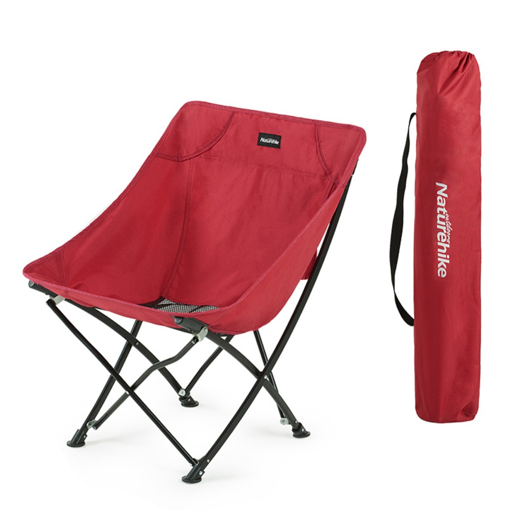 Naturehike Fishing Chair Portable Folding Chair for Camping Hiking Gardening Beach Barbecue with Bag naturehike portable fishing chair foldable 2 colors steel folding hiking picnic barbecue beach vocation camping chairs