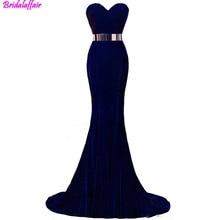 2019 Glamorous Fashion Formal Evening Gowns Beaded Sweetheart Neck Mermaid Dresses Velvet Burgundy Metal Belt Prom Dress