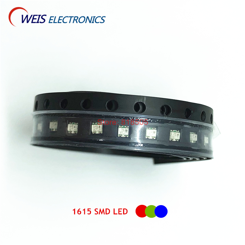 100PCS 0603 SMD LED RGB Red+green+blue 0606 Full Color LEDs Common Cathode / Common Anode 1615  1.8-2.0v 20mA Free Shipping