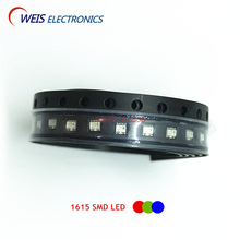100PCS 0603 SMD LED RGB red+green+blue 0606 full color LEDs Common cathode / common anode 1615  1.8-2.0v 20mA Free shipping цена