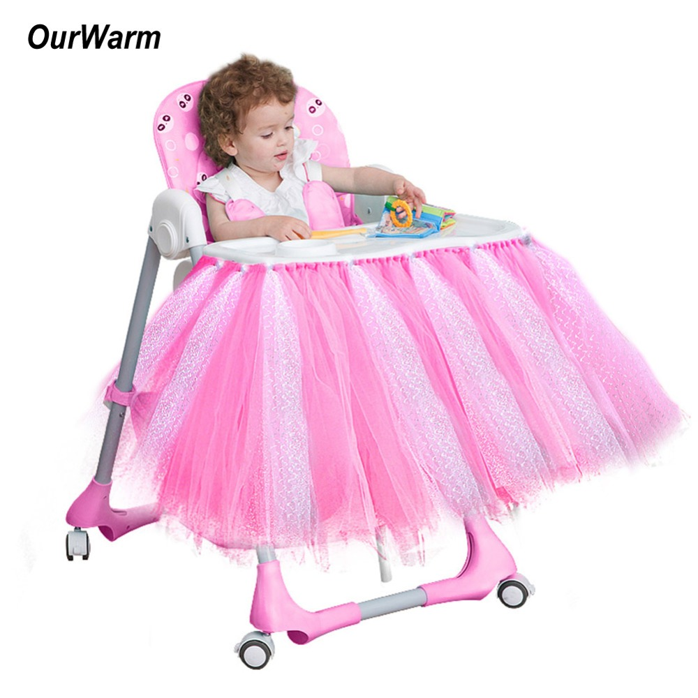 Fabulous Us 9 95 30 Off Ourwarm New High Chair Tutu Tulle Skirt Pink Blue Handmade Cover Cloth Boys Girls Birthday Party Supplies Baby Shower Decoration In Ocoug Best Dining Table And Chair Ideas Images Ocougorg