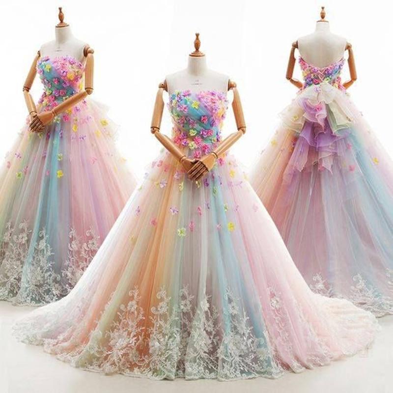 Robe de soiree Elegant Flower Evening Dresses Sleeveless Turkish Arabic Dubai  Prom Gowns Dress For Weddings d51631040489