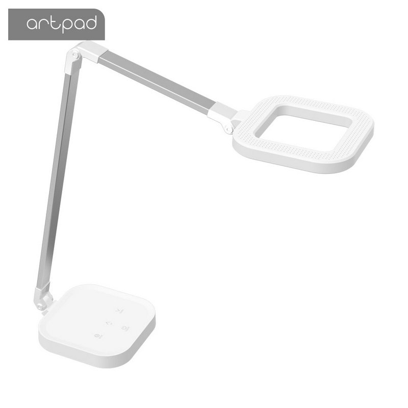 Image 4 - ArtPad 10W 15 Brightness Touch Dimmer Modern Office LED Table Lamp USB Port Charge Phone Student Reading Study Light Black White-in Desk Lamps from Lights & Lighting