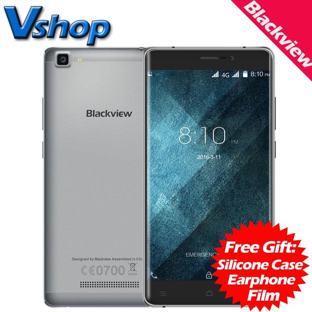 Original Blackview A8 Max 4G Mobile Phone Android 6.0 2GB RAM 16GB ROM Quad Core 720P 8MP Camera Dual SIM 5.5 inch Cell Phone