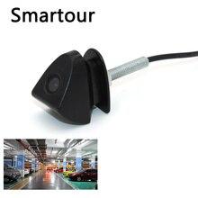 Smartour HD Auto Vista Frontale Della Macchina Fotografica DC12V ad alta definizione di visione notturna di 170 di larghezza gradi logo incorporato per Toyota