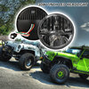 Free Shipping 7inch Round Headlight Motorcycle Automotive 4x4 Offroad Cruiser Wind Rover Led Daytime Running Lights