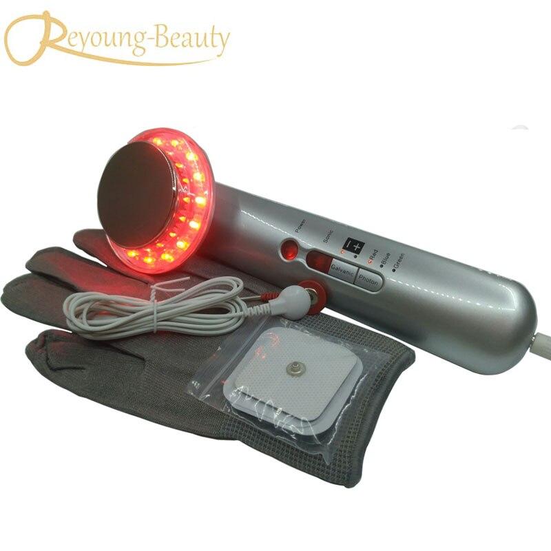 Ultrasonic Galvanic Photon EMS Infrared Fat Burning Sculptor Skin Firming Tightening Lifting Body Slimming Massager Machine videoblogging