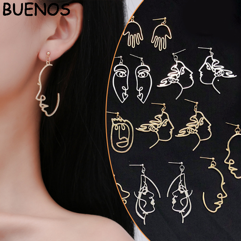 Girls-Multiple-Choice-Earrings-Retro-Metal-Alloy-Fashion-Abstract-Hollow-Out-Dangle-Earrings-New-earring-Face