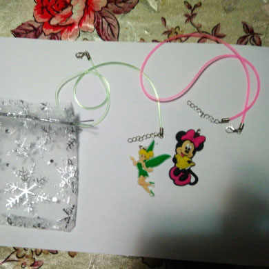 1 Pcs PVC Kalung Kartun Gambar Mickey Tali Rantai Liontin Cute Minnie Pesona Kalung Kalung Anak Pesta Fashion Perhiasan