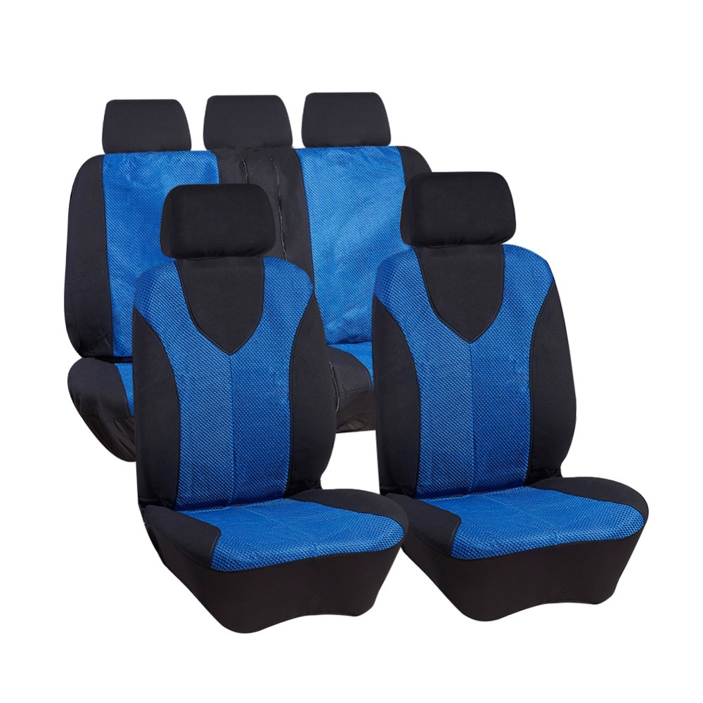 11 Pcs Seat Covers Mesh Cloth Car Seat Protector Styling