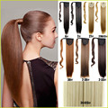 "Fake Hair Ponytail Long Straight Hair Pieces Synthetic Hair 116g 24"" Hairpiece Clip In Pony Tail Ponytail apply Multicolor"
