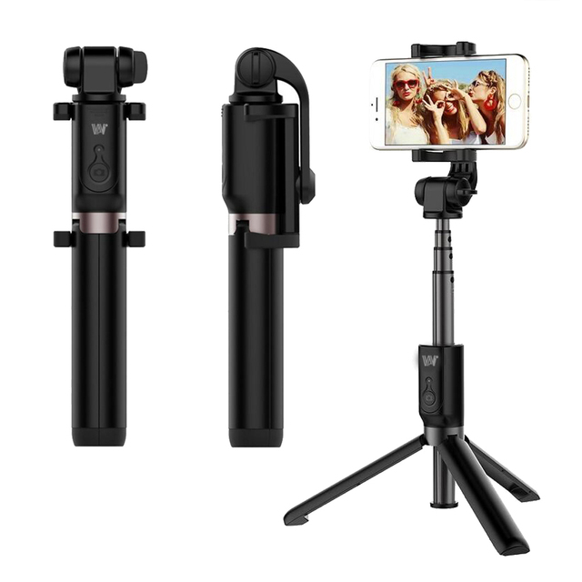 pretty nice 9f359 a9f64 US $16.66 21% OFF| Wireless Bluetooth Selfie Stick Tripod 360 Rotation  Remote Control Extendable Monopod For iPhone X 8 7 6s Plus Samsung  Huawei.-in ...