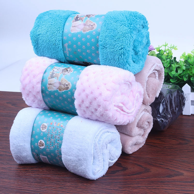 New dog blanket new pet supplies doghouse pad absorbent warm blanket Small: <font><b>50</b></font> x 70 cm large: 100 <font><b>x70</b></font> cm image
