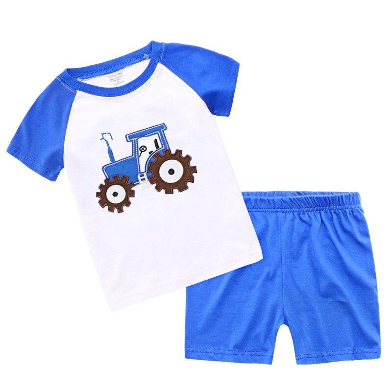Из 2 предметов для девочки 1-6 лет летняя одежда для детей Наборы для ухода за кожей хлопок для маленьких мальчиков Наряд Костюмы модная футболка + Шорты для женщин Прекрасный мультфильм комплект для малышей xc011