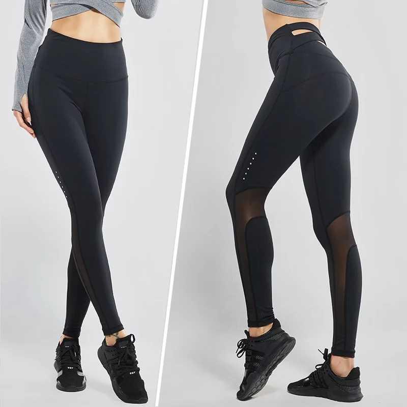 5dc82f9295e36 ... Vansydical High-waist Yoga Pants Women's Fitness Sports Leggings Cross  Back Running Tights Workout Jogging