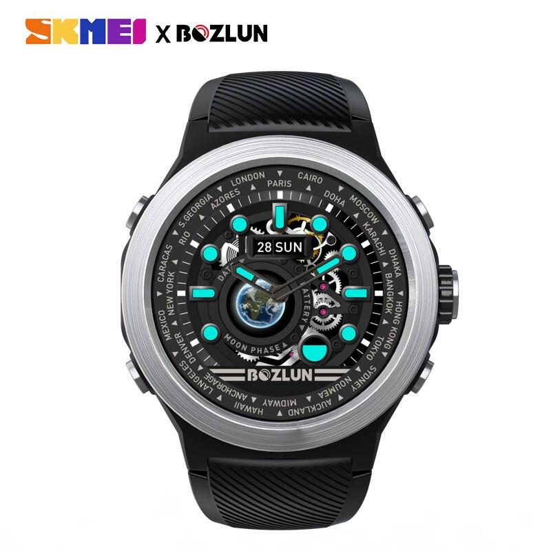 SKMEI hombres reloj inteligente Digital Bluetooth deporte relojes Monitor de ritmo cardíaco Fitness sueño rastreador impermeable hombre reloj de pulsera inteligente