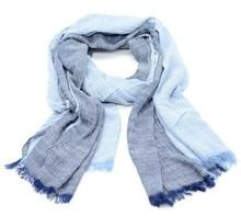 Новые Горячие Продажи Мода Зима Шарф Джинсовый синий сплошной цвет долго хлопка шарфы шаль моды для мужчин женщин