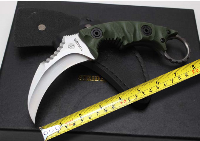 Strider Rescue Karambit Knife D2 Blade G10 Handle Outdoor Hunting Knives Camp Fixed Blade Knife Survival Tactical knife Tools buck nylon handle tactical outdoor knife fixed blade serrated edge makes cutting half sawtooth hunting knife survival knives