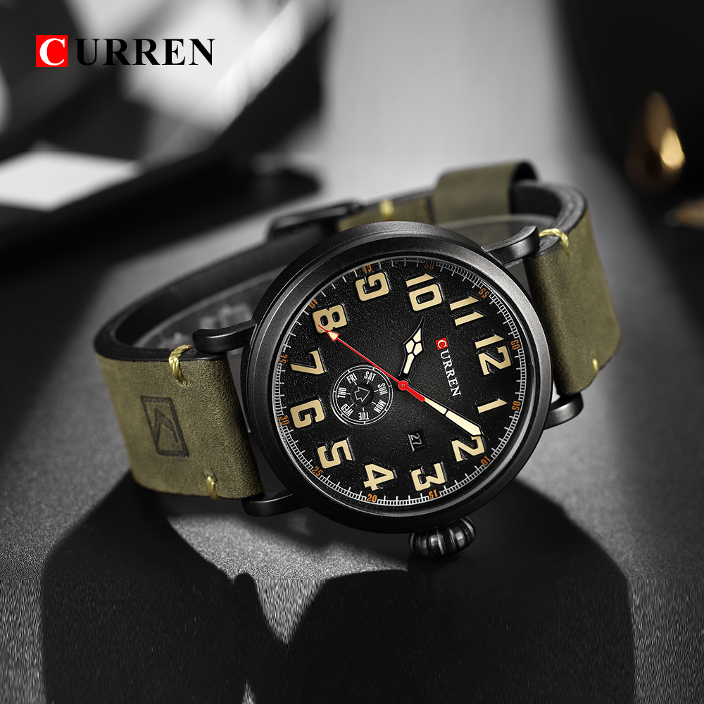 CURREN Top Brand Men Sports Waterproof Quartz Watch Military Luxury Calendar Wristwatches relogio masculino