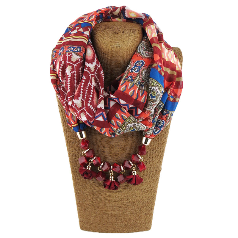 HTB19MD7LQvoK1RjSZFDq6xY3pXad - RUNMEIFA Multi-style Jewelry Statement Necklace Pendant Scarf Women Bohemia Neckerchief Foulard Femme Accessories Hijab Stores