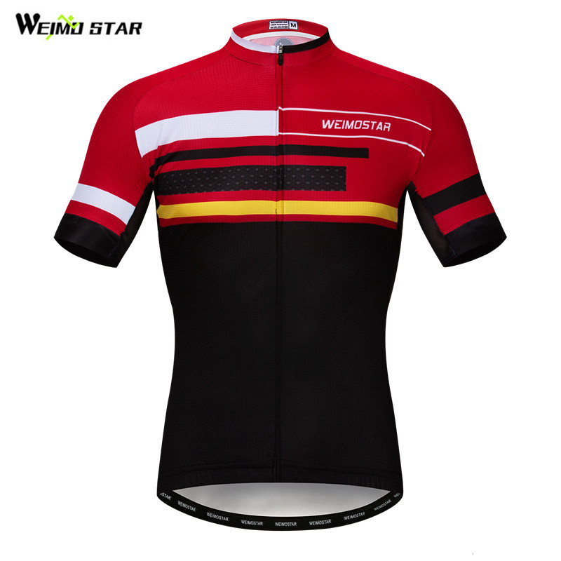 Weimostar Summer Cycling Jersey Team Short Sleeve Cycling Clothing Quick Dry Bicycle Shirt Wicking MTB Bike Jersey Cycle Wear
