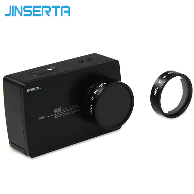 مرشح الأشعة فوق البنفسجية JINSERTA لشاومي Yi 2 II 4K Xiaoyi كاميرا عمل رياضية عدسة زجاجية بصرية لحماية ملحقات شاومي YI 4K