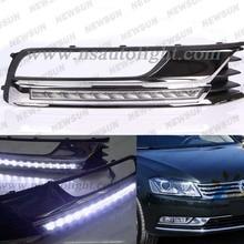 For Passat B7 Europe 2012 2013 for VW Volkswagen Magotan (new) Daytime Running Light LED Daylight DRL Top Quality DRL Fog Lamp
