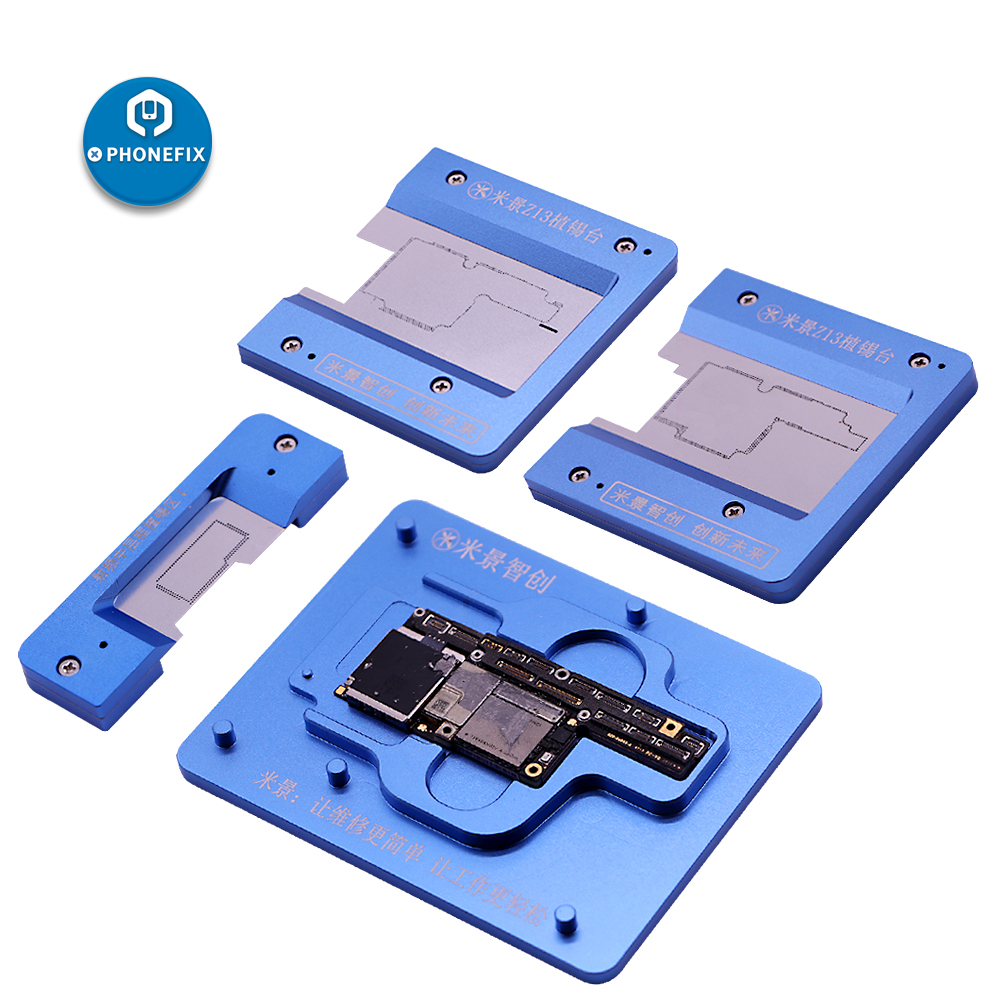 PHONEFIX MJ Z13 Motherboard Holder Fixture With BGA Reballing Stencil For IPhone X XS XS MAX Soldering Repair Tools