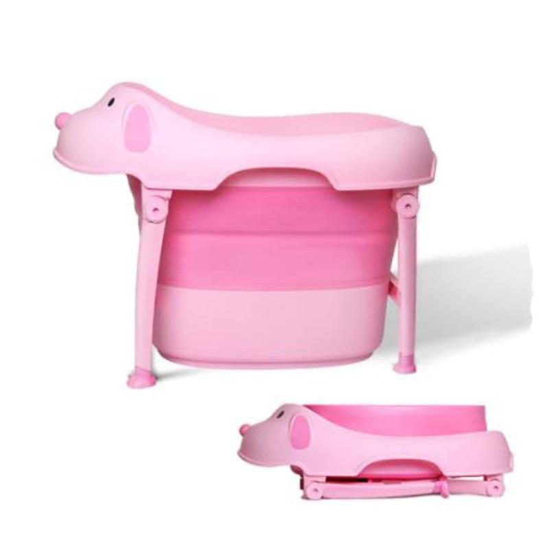 Bébé les enfants baignoire grande baignoire grand bébé pliant en plastique baignoire petit animal modélisation de bain seau multi-fonction de bain baignoire