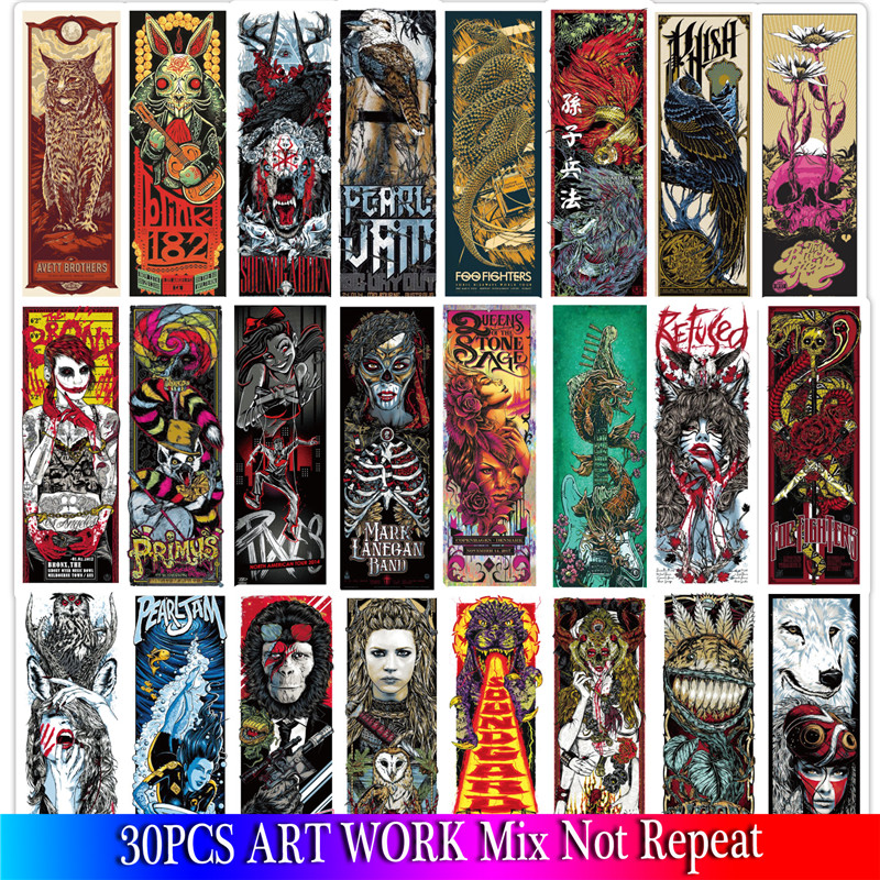 30PCS 2019 Art Work Stickers Sets Anime Sticker On Laptop Fridge Phone Guitar Stickers Pack
