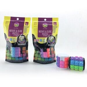Image 5 - חדש 3D לסובב שקופיות מגדל בבל מתח קוביית פאזל צעצוע קוביית ילדים למבוגרים צבע צילינדר הזזה פאזל צעצוע חושי
