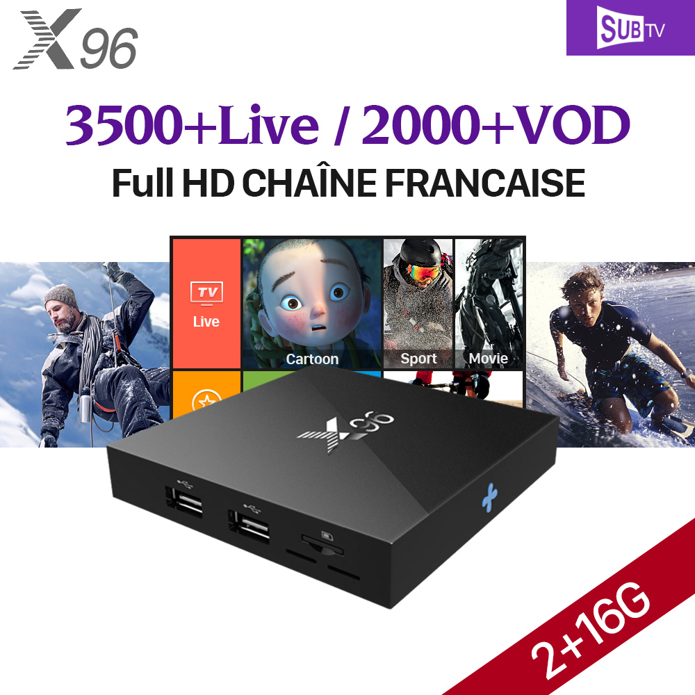 4K X96 Android 6.0 Smart TV Box France Arabic IPTV 1 Year SUBTV IUDTV IPTV QHDTV Code PK X92 Arabic French Europe IPTV Top Box