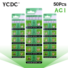 YCDC bateria 1.55v 50 pcs ag1 lr621 d364 sr621sw 364a alkaline batteries button cell coin watch batteries piles pile montre цена 2017
