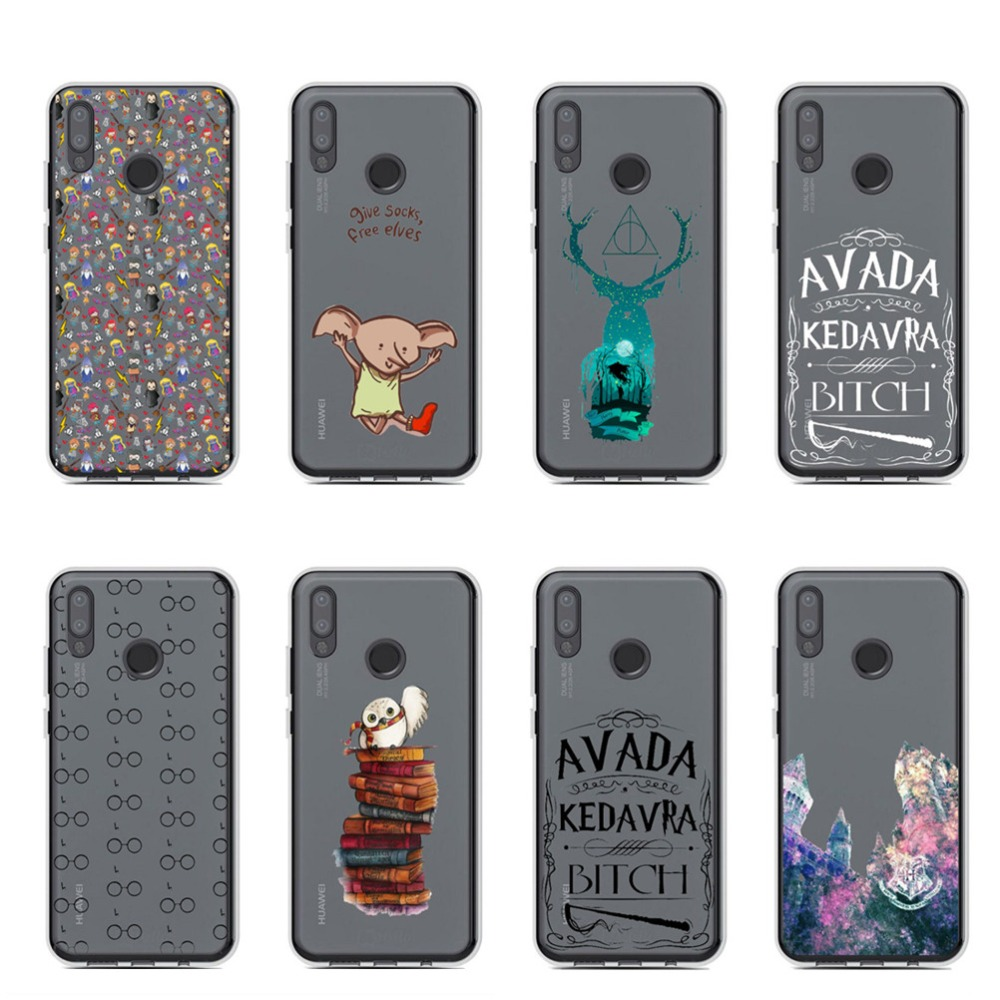 Avada Kedavra Bitch Harry Potter Soft TPU Phone Case Cover for Huawei P8 Lite 2017 P9 P9 Lite Plus P10Lite P20 Pro Mate 20 Pro