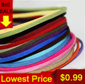 Free shipping 3mm Jewelry findings DIY Korean Suede Cord (4 meters/roll), Necklace & Bracelet Cord jewelry findings PS-FXU001