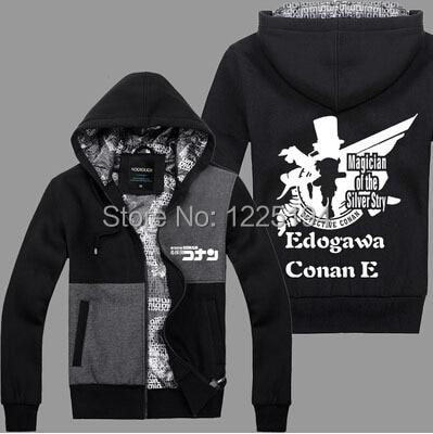 Detective Conan Edogawa Cosplay Quente Outono Inverno Moda Hoodies  Camisolas Casaco 74389416ee4