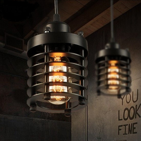 Nordic Loft Style Iron Droplight Edison Industrial Vintage Pendant Lamp Fixtures For Dining Room Hanging Light Indoor Lighting iron cage loft style creative led pendant lights fixtures vintage industrial lighting for dining room suspension luminaire