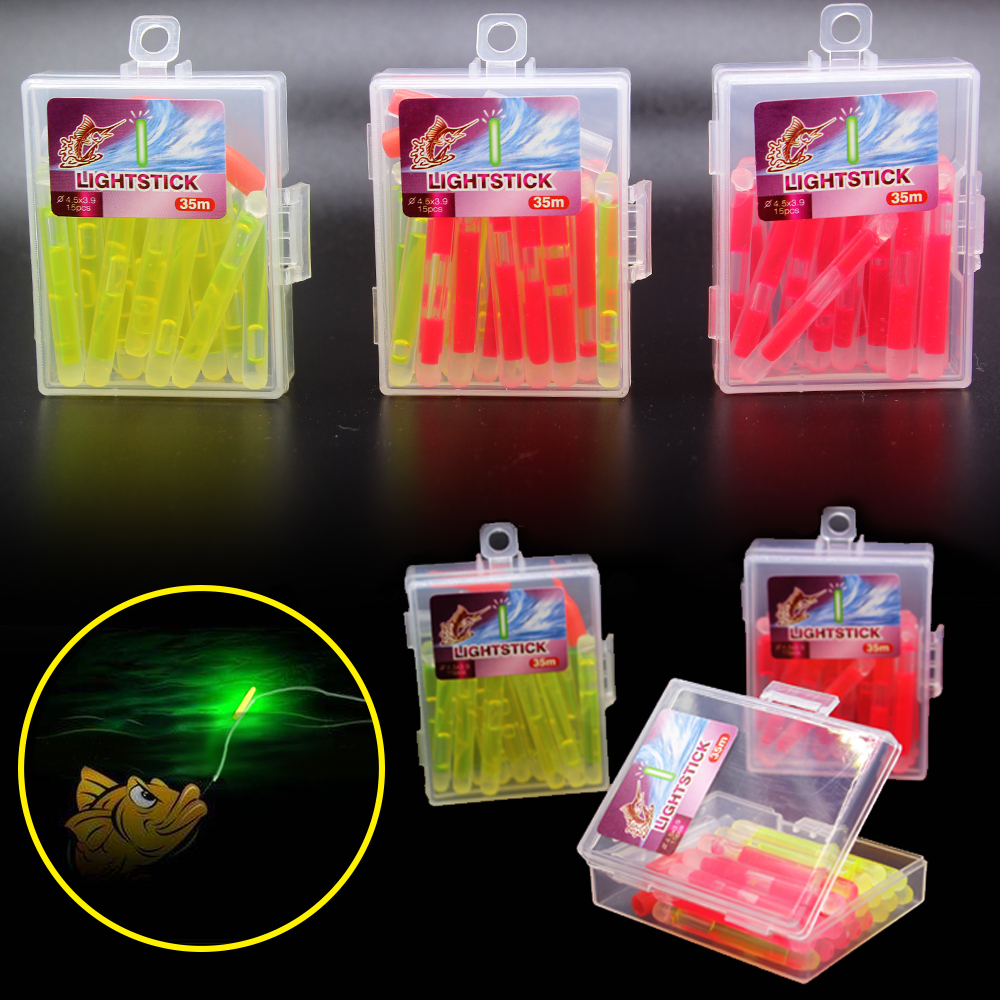 4.5*3.9 35m   Lightstick  20pcs/lot Fishing Float Glow  Tackle Available Fishing Glow Lightstick Pesca For Fishing