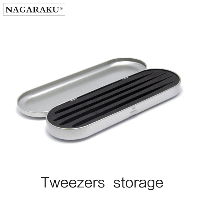 NAGARAKU Professional storage for eyelash extension tweezers eyelash extension tools box for tweezers portable safe makeup tools