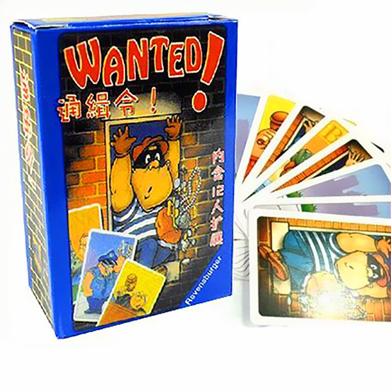 Wanted Card Game 3-5 Players Family Small Size Board Games Easy To Play,Funny Game