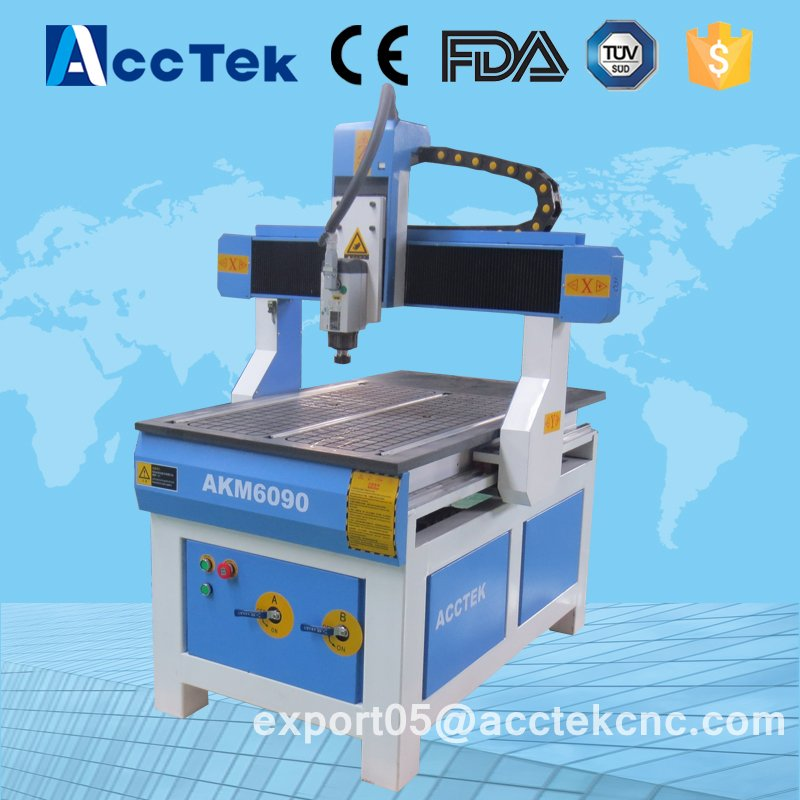 AKM6090 Acrylic / Stone / Marble / Aluminum / Brass / 3d Portable Wood Mini Cnc Router Made In China