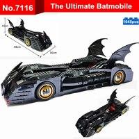 1045pcs Diy Super Hero Batman The Ultimate Batmobile Model Building Blocks War Chariot Kids Toys Bricks Compatible With Legoing